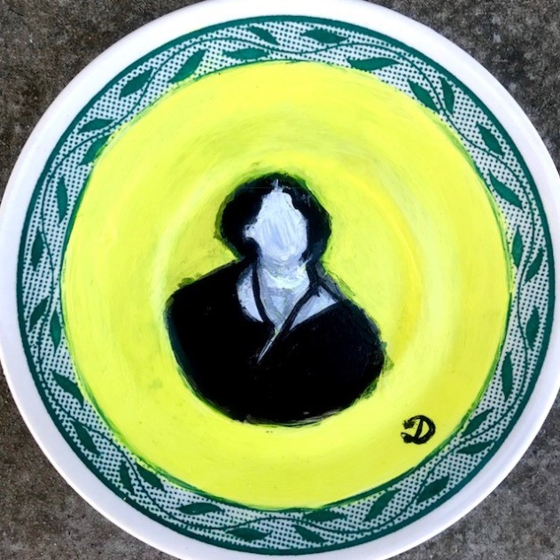 Oscar Wilde on a plate