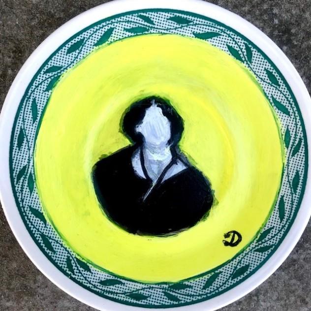 Oscar Wilde on a plate