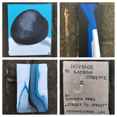 Georgia O'Keeffe on a tile