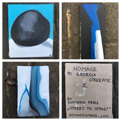 Georgia O'Keeffe on a tile