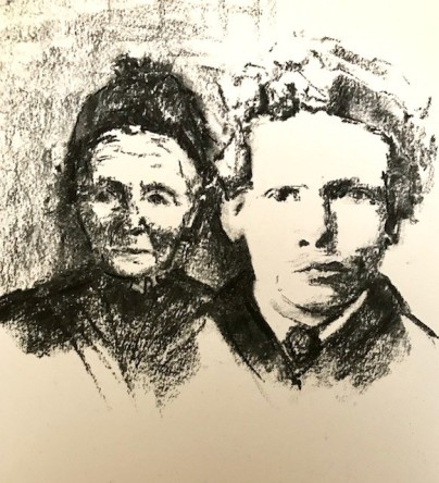 Vincent van Gogh age 13 and his mother