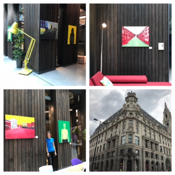 Exhibition in Alphabeta building, London